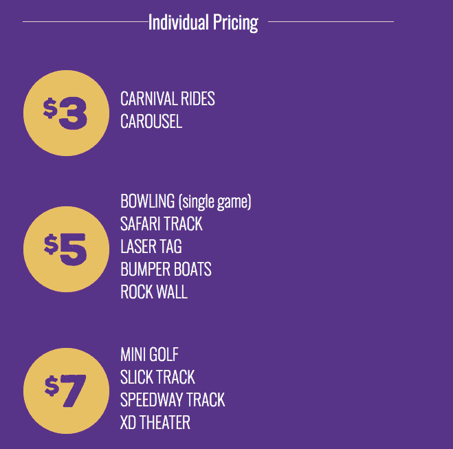 current prices for Austin's Park and Pizza as of 2019 - individual prices a la carte-min