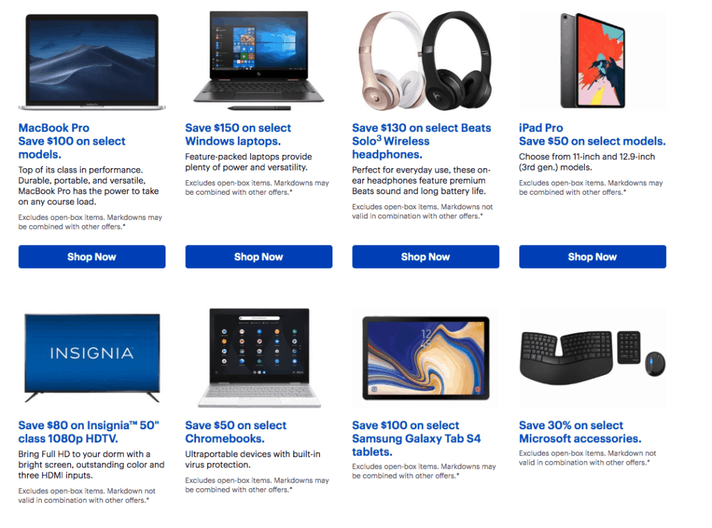 student deals at best buy 2019