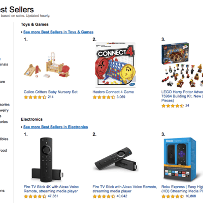 Amazon Best Selling Items Updated Hourly and Easily Browsable
