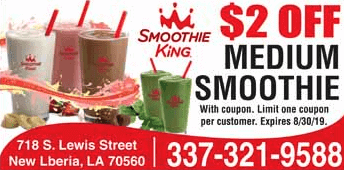 coupon for smoothie king s lewis street new iberia la