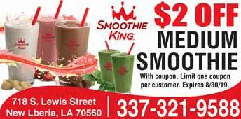coupon for smoothie king s lewis street new iberia la
