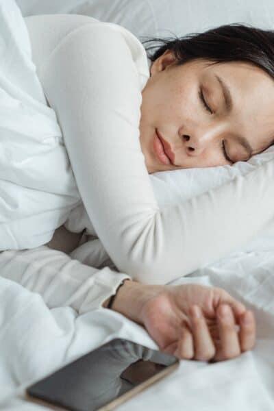 sleep woman in bed