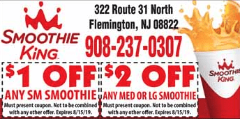 smoothie king coupon north flemington NJ