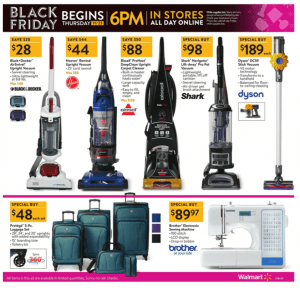 Walmart Black Friday Ad 2017 bissell shark dyson vacuum cleaners deals