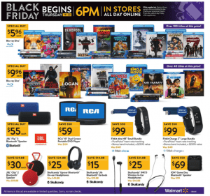 Walmart Black Friday Ad 2017 fitbit deals skullcandy headphones