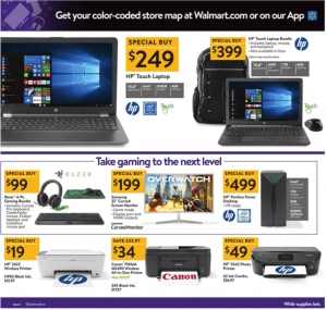 Walmart Black Friday Ad 2017 hp laptop razer gaming