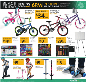 Walmart Black Friday Ad 2017 kids bikes