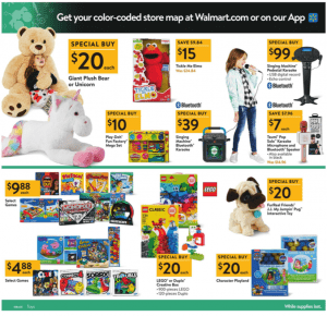Walmart Black Friday Ad 2017 kids games plush unicorn tickle me elmo
