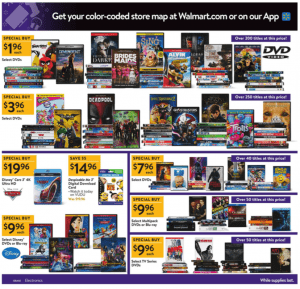 Walmart Black Friday Ad 2017 movies dvds blu-rays