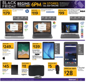Walmart Black Friday Ad 2017 samsung rca galaxy tablet