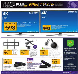 Walmart Black Friday Ad 2017 samsung tv deals roku
