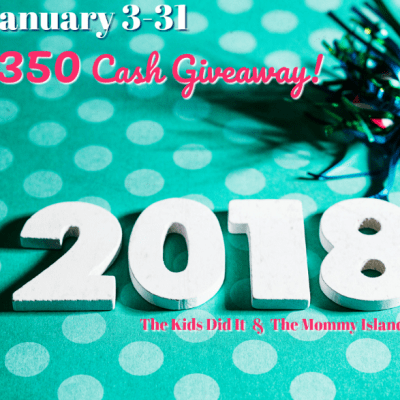 Giveaway: $350 Cash Giveaway January 2018