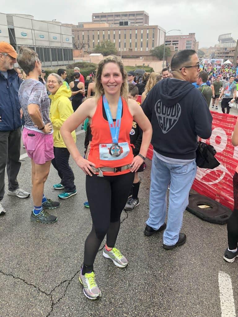 Rachel Half Marathon Finish Fabletics Outfit