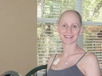 young breast cancer survivor after chemotherapy hair loss