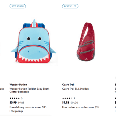 Discount on Lots of Backpacks – Here's What I Found for Under $10 at Walmart