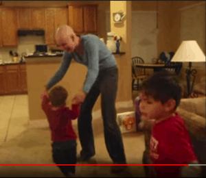 mom dances with kids after last chemotherapy