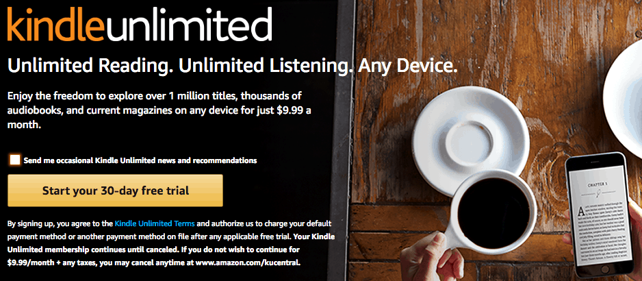 How much is Kindle Unlimited for a year