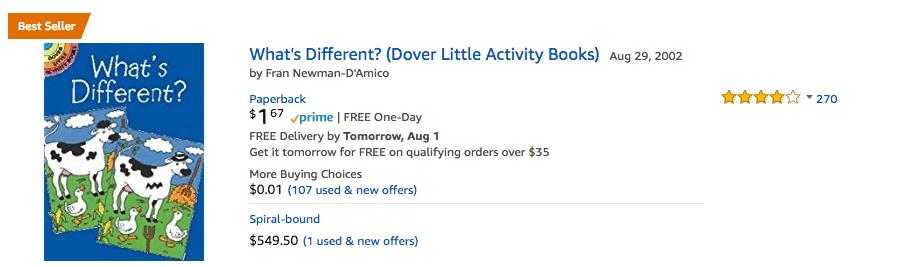 deal on amazon kids activity books