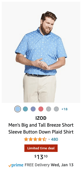 Deal on Izod Mens Shirts Under $15 Shipped