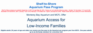 Monterey Bay Aquarium Free Tickets from the Library