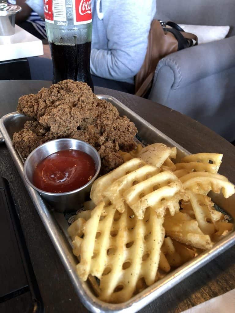 TLC - TENDER LOVING CHIX waffle fries at wild chix and waffles austin restaurant