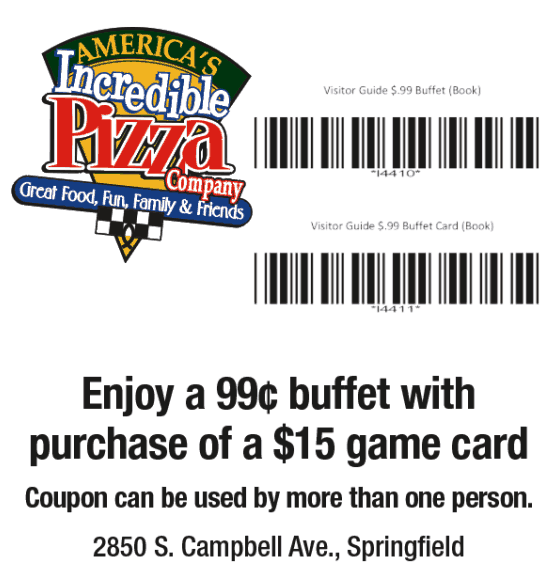 incredible pizza coupons