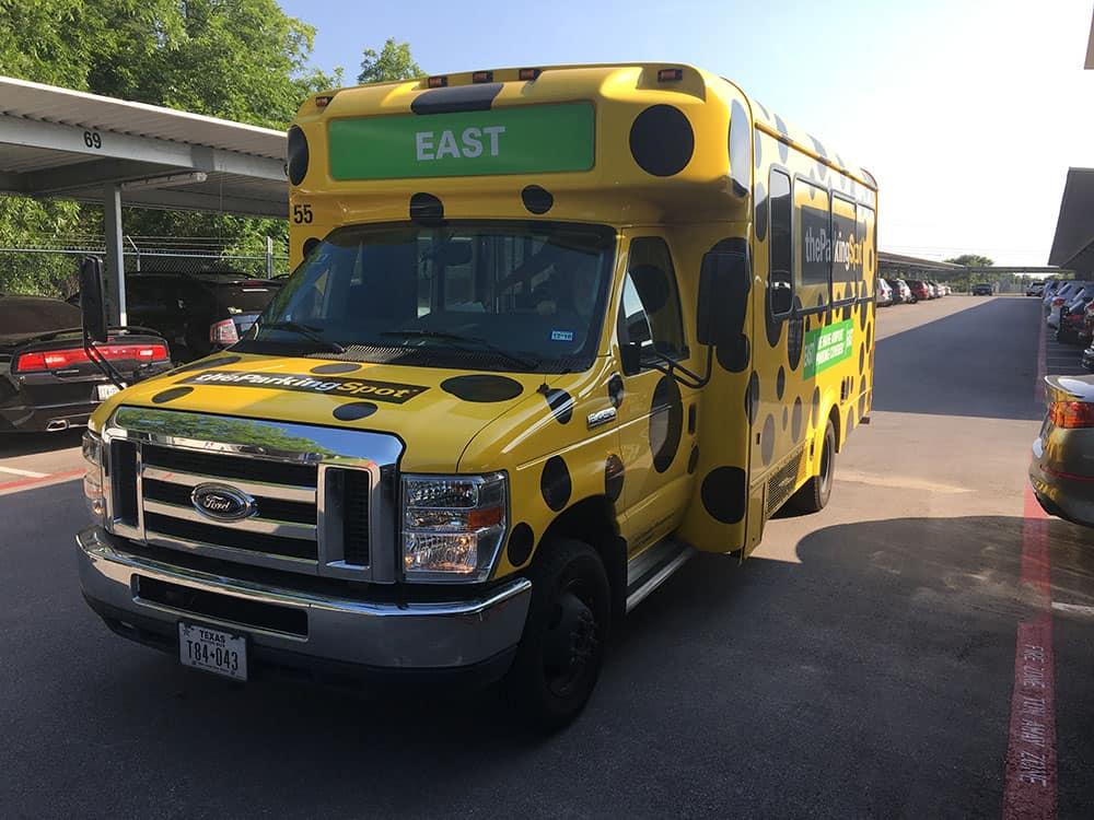 The Parking Spot shuttle bus