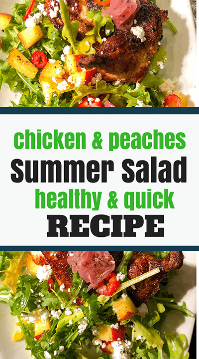 healthy easy summer salad recipe with chicken and peaches copy