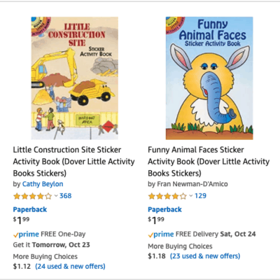 Kids Activity Books Many Under $2 Each – Gift or Car Trip Ideas