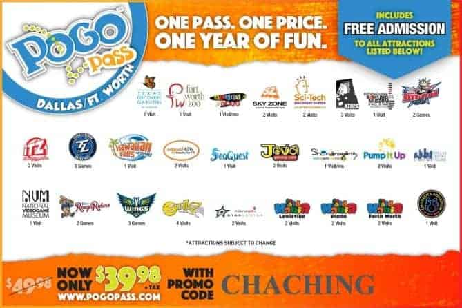 Pogo Pass Dallas Coupon Code