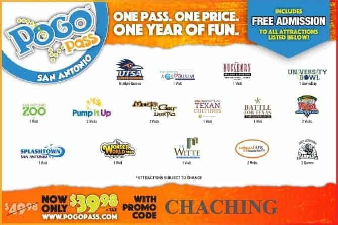 Pogo Pass San Antonio Texas Promo Code