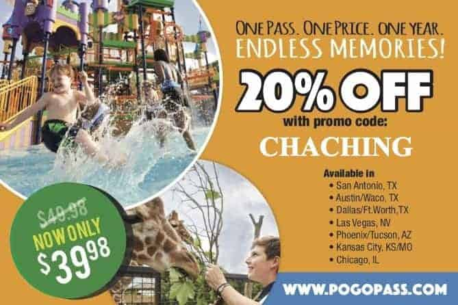 Pogo Pass coupon Dallas Las Vegas Austin San Antonio Waco Kansas City Chicago Tucson Phoenix