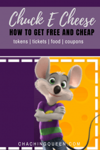 How to find chuck e cheese deals and free stuff
