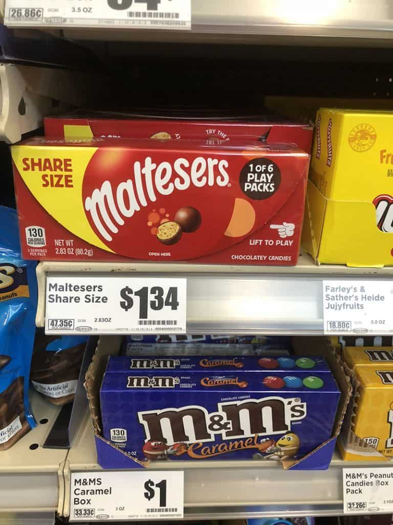 MALTESERS Candy Deal at H-E-B with Coupon
