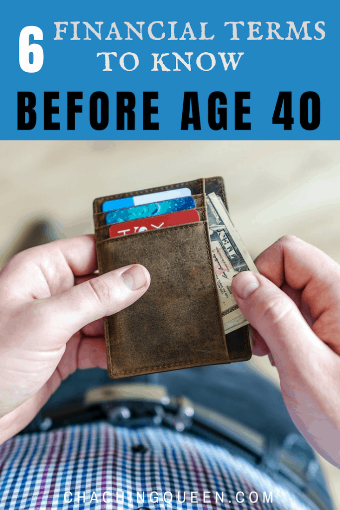 financial terms you need to know before age 40 - young adult finances wallet