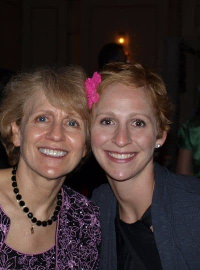 young breast cancer survivor in Austin with mom - benefit of good support systems