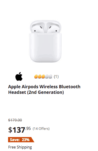 Apple Airpods Wireless Bluetooth Headset - White 1st Generation black friday christmas 2019