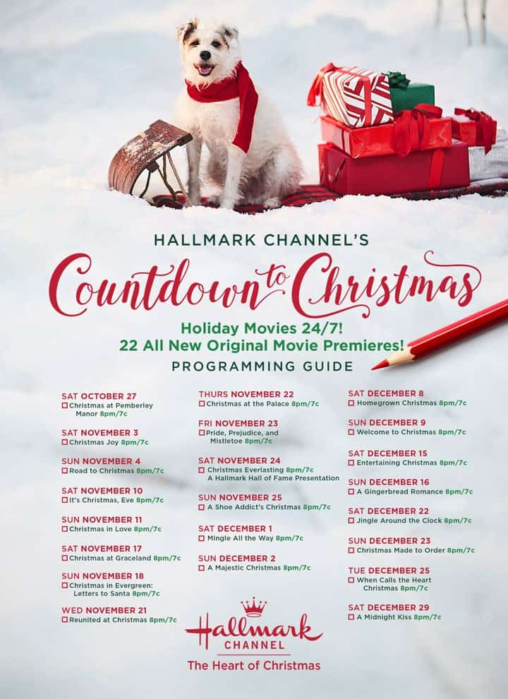 Hallmark Christmas Movies 2018 Schedule - Countdown to Christmas 2018