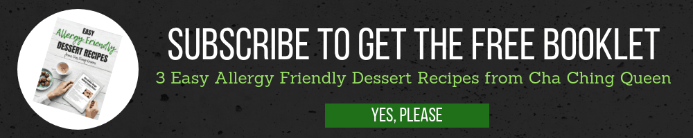 subscribe to get the free booklet - 3 easy allergy friendly Dessert Recipes
