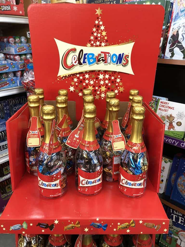 A Sweeter New Year's Celebration with Mars Celebrations holiday H-E-B display copy