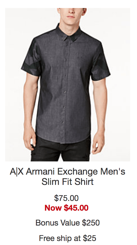 Armani Exchange Men's Slim Fit Shirt