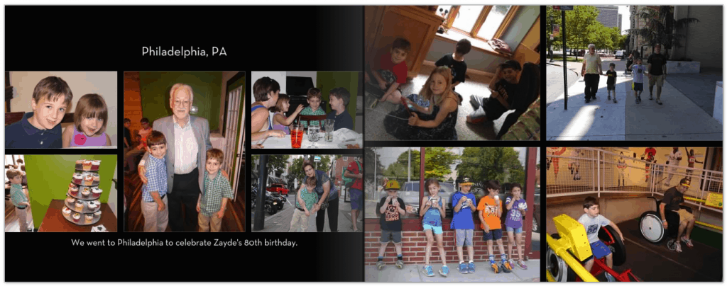 family travel with teens and older kids and teens - turn memories into a photo book with Shutterfly
