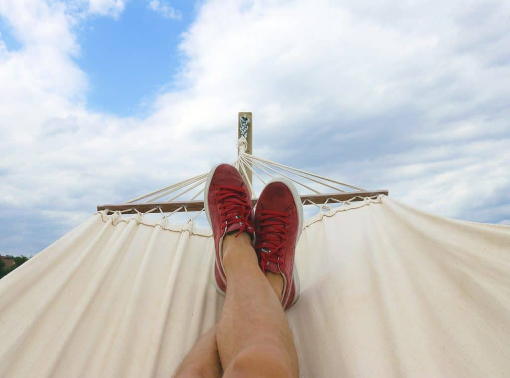 image of feet in hammock travel vaction pic