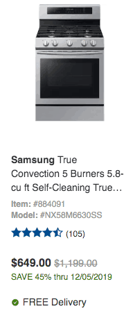 lowes samsung convection oven deal discount