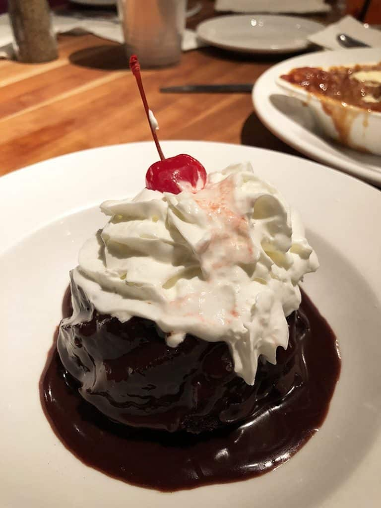 Chocolate Raspberry Mini Cake on the Dessert Menu at Cheddar's