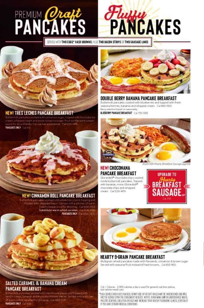 Denny's Menu Pancakes