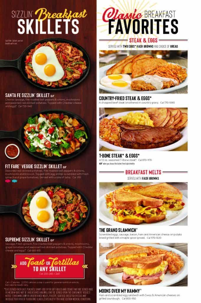 Denny's Menu Breakfast