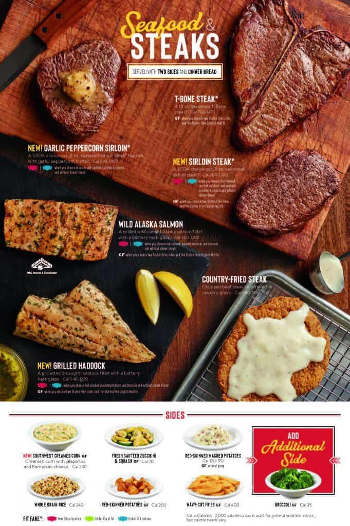 Denny's Menu Seafood and Steaks