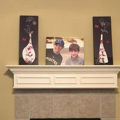 Mantel Decor Idea: Updating our Mantel with a Photo Canvas Print + Giveaway