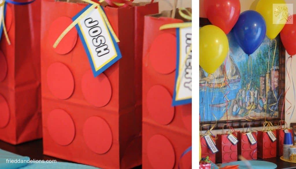Lego Party Ideas - DIY Lego Party Favor Bags